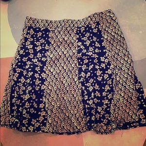 Pink and navy floral skirt from Francesca's